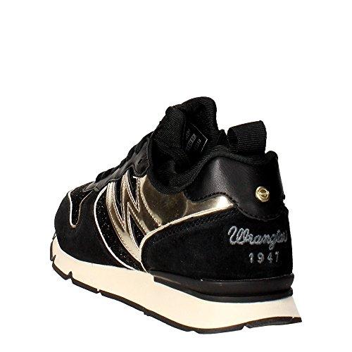 Wrangler WL162650 Sneakers Damen Schwarz/Gold