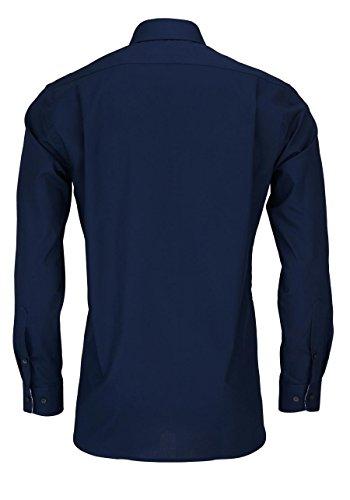 OLYMP Modern Fit Hemd extra langer Arm Popeline weiß AL 69 Dunkelblau