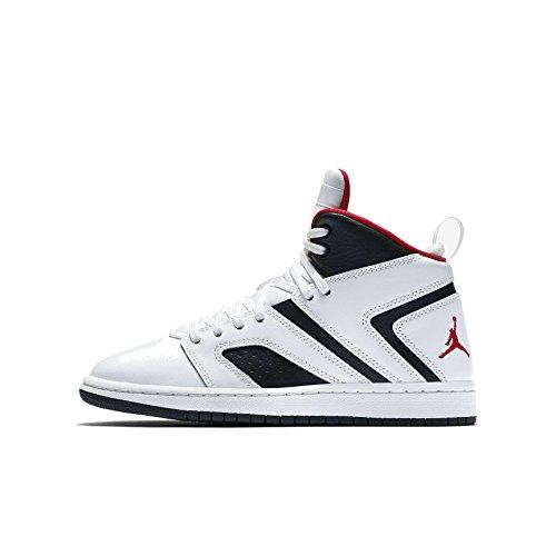 Nike Kinder Jordan Flight Legend (GS) Weiß Leder/Synthetik Sneaker 40 -