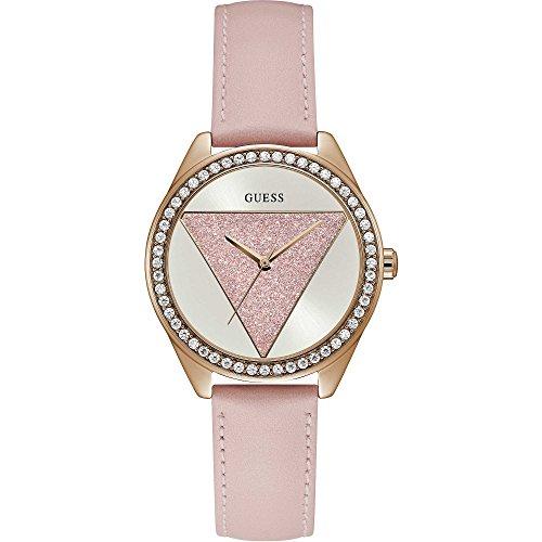 Guess orologio analogico quarzo donna con cinturino in pelle w0884l6