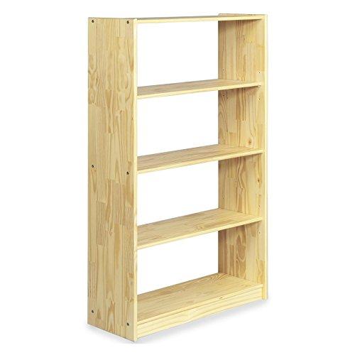 IDIMEX Regal Standregal Bücherregal Büroregal Massivholzregal Kiefermassivregal, Kiefer massiv in Natur lackiert, 5 Regalböden -