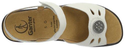 Ganter Monica Weite G 7-202571-02000 Damen Sandalen Weiß (weiß 0200)