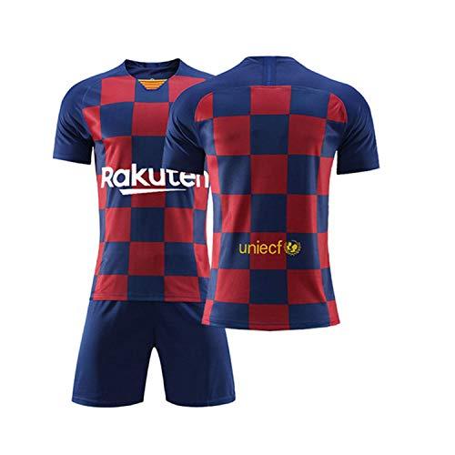 Camiseta Jersey Futbol Barcelona 2018-2019 Traje de niños Manga Corta + Pantalones Cortos (No Numero,T24 / Altura del niño 140-145CM)