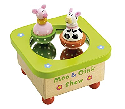 Tidlo Wooden Moo & Oink Music Box