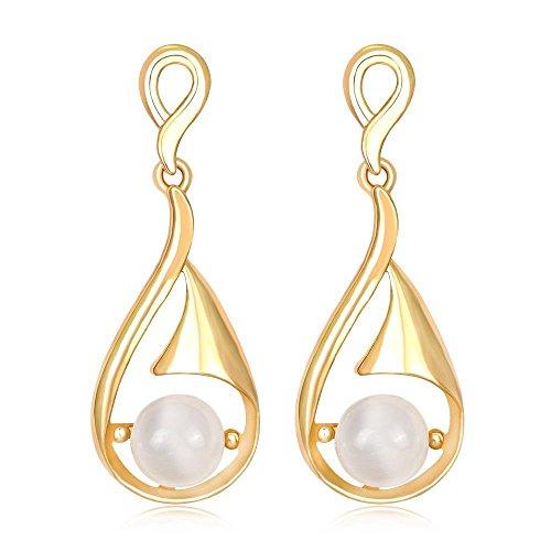 JunBo Luft-Luxus künstliche Perle Ohrringe Minimalistische Mode Wasser -