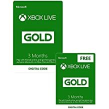 Xbox Live 3 Month Gold Membership + 3 Month FREE | Xbox One/360 - Download Code