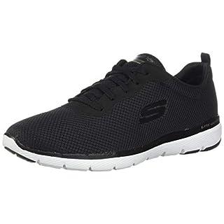 Skechers Damen Flex Appeal 3.0-13070 Sneaker, Schwarz (Black White Bkw), 35 EU