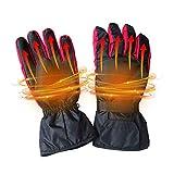Aolvo 4,5 V Beheizte Handschuhe für Damen Herren Elektrische Erwärmungshandschuhe, batteriebetrieben, beheizte Motorrad-Winter-Handschuhe, wasserdicht isoliert, für Wandern, Skifahren, Radfahren und Jagd (Schwarz, keine Batterie im Lieferumfang enthalten)