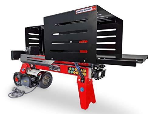 CROSSFER Holzspalter LS6T-52Ty / 6 Tonnen Spaltkraft / 52 cm Spaltlänge / 230V Elektromotor / 2 Hand Bedienung/kompakter Hydraulikspalter