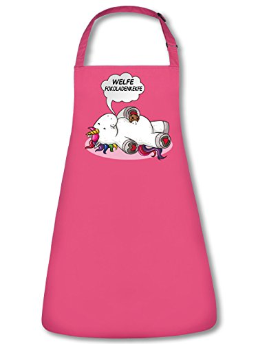 Welfe Fokoladenkekfe 5938 Einhorn Unicorn Unisex Grillschürze Kochschürze Latzschürze Küchenschürze Pink