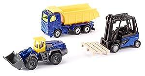 SIKU 6305 Metal, De plástico vehículo de Juguete - Vehículos de Juguete (Negro, Azul, Amarillo, Vehicle Set, Metal, De plástico, 3 Pieza(s))