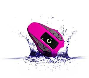 Aerb 4G Waterproof MP3 Player Music Stream Player With Mono OLED Screen Big LCD Display Support FM Radio / Pedometer for Swimming Running & other Sports (IPX-8 Standard) (Pink)