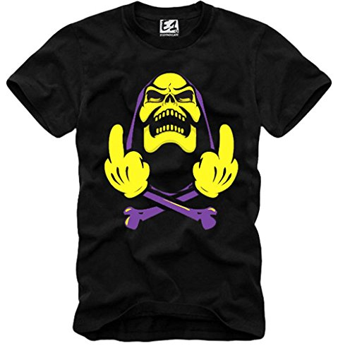 E1Syndicate Black T Shirt Skeletor Hypebeast Supreme Gym Dope HBA