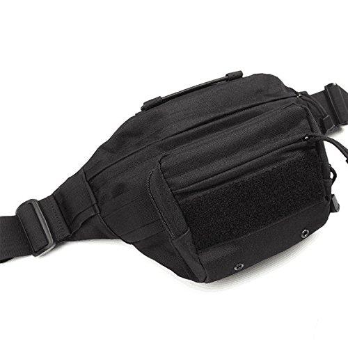 ZYT Im freien Pocket Armee Männer und Frauen verloren taktische Brust Taschen. wasserdichte Tasche Reisen und Freizeit. Reitsport Black