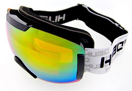 Hubo Skibrille Snowboardbrille Rahmenlos verspiegelt