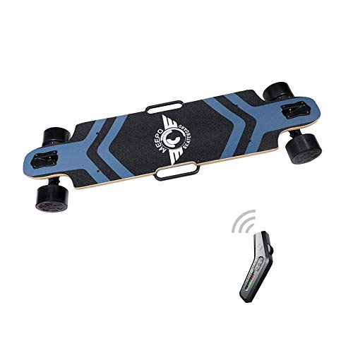Tony Hawk Meepo Electric Skateboard Accessories 540w Motor Four-Wheel Drive High-Speed Scooter Wireless Remote Control Scooter Adult, 40''* 9.5''* 5.1'',Black -