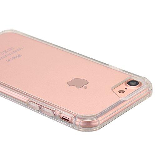 iPhone 7cellulare, iPhone 7Case, lontect cellulare custodia per Tablet Case Cover morbida flessibile estremamente sottile pelle graffi trasparente per prova per Apple iPhone 74.7pollici Crystal Klar