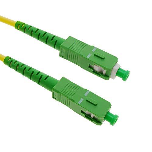 Glasfaserkabel SC/APC auf SC/APC Simplex Singlemode 9/125, Kompatibel mit Glasfaser bis in die Wohnung (FTTH, Fiber to the Home) (50M) -
