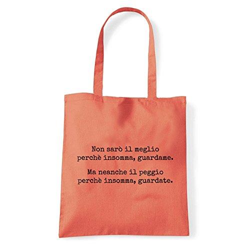 Art T-shirt, Borsa Shoulder Guardate, Shopper, Mare Corallo