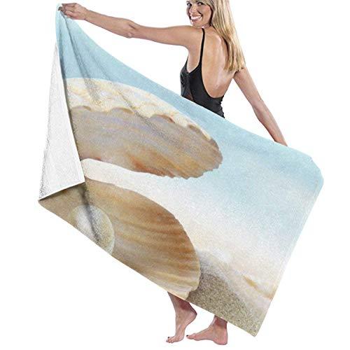 xcvgcxcvasda Serviette de bain, Shell Perl Personalized Custom Women Men Quick Dry Lightweight Beach & Bath Blanket Great for Beach Trips, Pool, Swimming and Camping 31