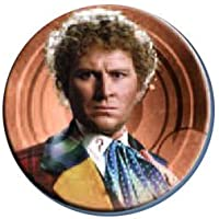 Doctor Who Sixth Doctor Button Magnet