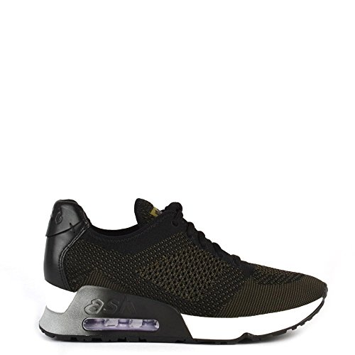 ash-scarpe-lucky-knit-sneaker-donna-37-eu-army-nero