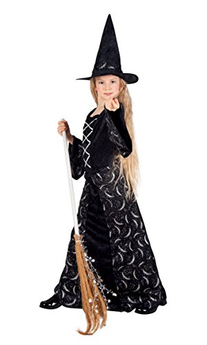 Boland 78030 - Kinderkostüm Mitternachtshexe, Gröߟe 128, (Elemente Vier Kostüme Halloween)