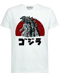 Godzilla atardecer Japón - Camiseta para hombres