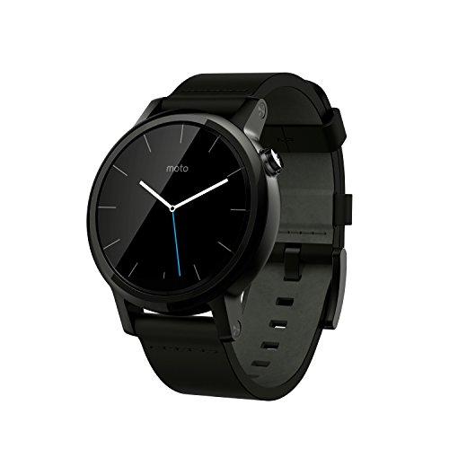 Foto Motorola Moto 360 2a Generazione Smartwatch, 42 mm, 4 GB, 512 MB RAM, Cinturino in Pelle, Nero