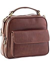 Chiarugi Womens Italian Leather Grab Bag - Brown d74ad26a76a2f
