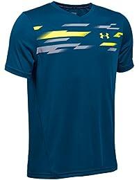 Under Armour Challenger Boys SS Train Top, Camiseta para Niños, Negro (Blackout Navy), YXL