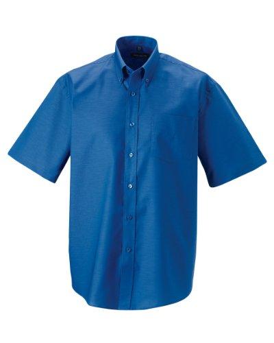 Russell - camicia classica manica corta - uomo (collo 38cm, petto 91-97cm) (blu azteco)