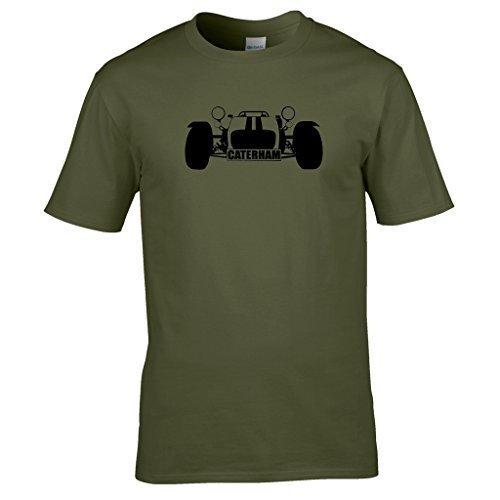 Naughtees clothing - Caterham super 7 T-shirt Für track tagen, sunny Tagen und Caterham Tagen Olivgrün