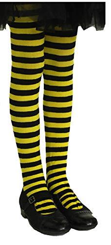 9-140-152-A gelb-schwarz Kinder Biene Bienen Strumpfhose Gr.140-152 ()