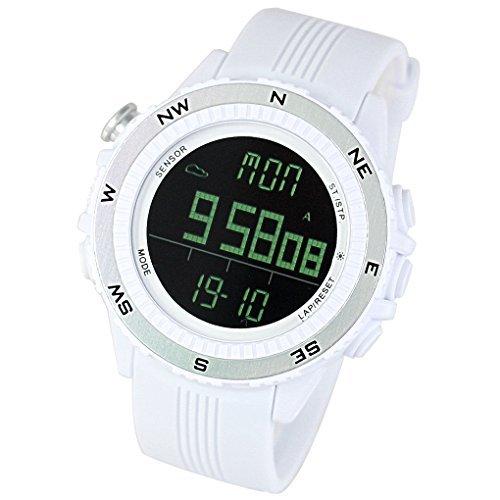 [LAD WEATHER] Deutscher Sensor Digitaler Kompass Höhenmesser Barometer Chronograph Wettervorhersage Outdoor Sportuhr Bergsteigen Laufen Herren Armbanduhr (Steigende Bar Damen)