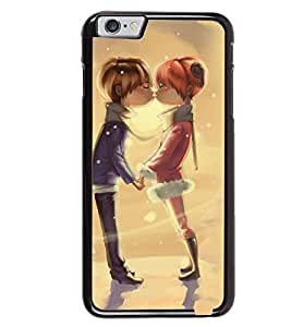 Printvisa Animated Romantic Couple Back Case Cover for Apple iPhone 6 Plus