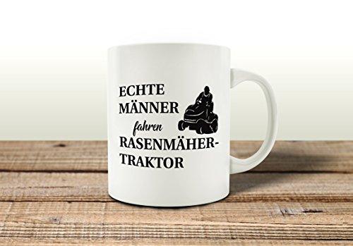 TASSE Kaffeebecher ECHTE MÄNNER FAHREN RASENMÄHERTRAKTOR Lustig Geschenk Mann