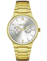 Caravelle Reloj de hombre 44C40-a109Acero Inoxidable goldplattiert