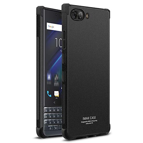 GHFPCASE für All-Inclusive Stoß- Airbag-TPU for BlackBerry-Key 2 LE, mit Schirm-Schutz (Schwarz) (Color : Matte Black) -