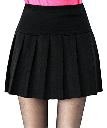 cooshional Elegante Damen Retro Sexy Rock kurz Röcke Abendrock Mädchen Faltenrock Minirock (Sexy Schuluniform)