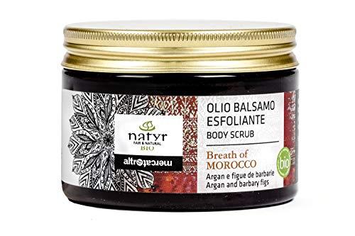 Gesicht Creme Mango Butter (BIO Körperpeeling mit Arganöl Und Feigenkaktus ✔ Straffend, Vitalisierend, Feuchtigkeitsspendend ✔ Natyr - Fair Trade Naturkosmetik aus Italien ✔ 150ml)