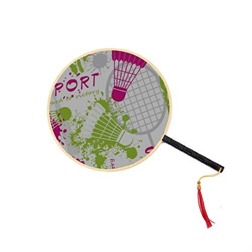 WYYWCY Badmintonschläger und Tennisschläger Chinesischer Alter Fan Klassischer Palast-Paddel-Fan Tanzfan Handreisefan Niedlicher chinesischer Fan Kinderhandfan Dekorativer chinesischer Fan