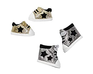 BABY born Trend Sneakers 2 assorted Zapatos de muñeca - Accesorios para muñecas (Zapatos de muñeca, 3 año(s), Oro, Plata, BABY born, Niño, Chica), 1 unidad, Colores Surtidos
