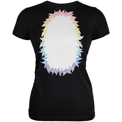 Halloween Einhorn Kostüm Regenbogen Pony Junioren weichen T Shirt schwarz 2XL