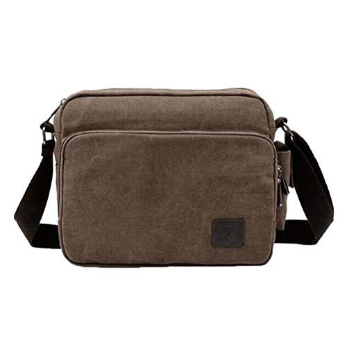 1 stück Umhängetasche Tasche Unisex Taschen Multifunktionspaket Unisex Shouder Tasche für Männer und Frauen (Kaffee) - Mann Für Tasche Shouder
