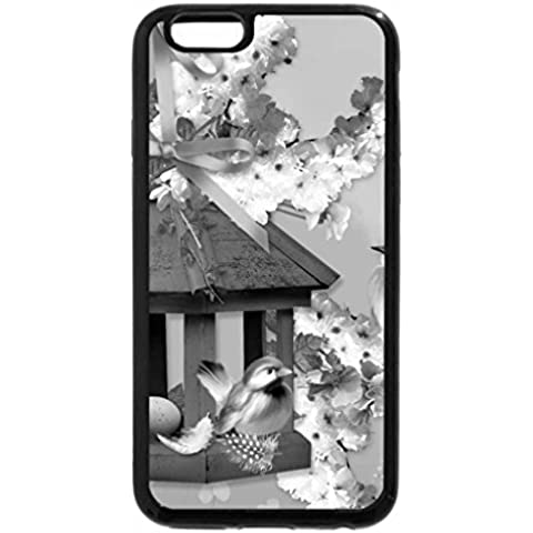iPhone 6S Plus Case, iPhone 6 Plus Case (Black & White) – Primavera Birdhouse