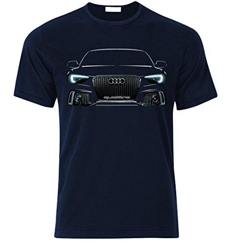 audi-rs6-quattro-stance-s-line-rs-fan-t-shirt-t-shirt-m-bleu-marin