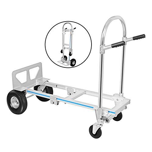 Buoqua 2 in 1 mano carrello pieghevole in alluminio for Amazon carrello portavivande pieghevole