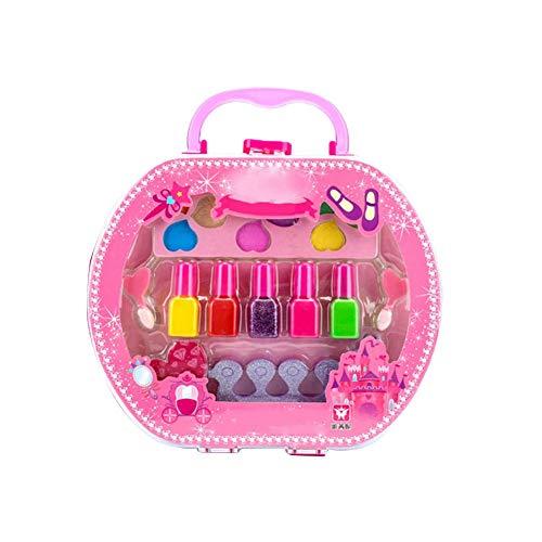 a9378f44b3c6 Fuitna Set De Maquillaje para Niños Maquillaje Cosmético Juguete Tote Bag  Almacenamiento Princesa Escenario Show Little Girl Nail Polish Girls Makeup  ...