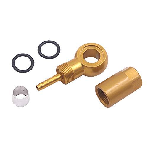 nakw88 Set di ricambi per Olio Set di Freni a Disco di Ricambio Duraturi Professionali Parti pratiche per la connessione di Cambio in Lega di Alluminio Idraulici per Shimano BH90(Oro)